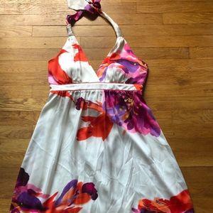 Bisou Bisou Floral Halter Dress Midi 16